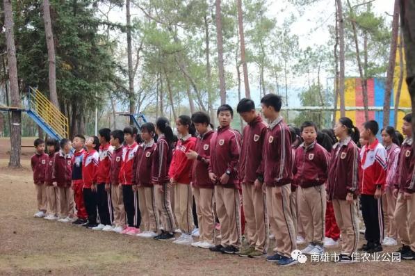 三佳竞博官网公园迎来秋季研学旅行高峰