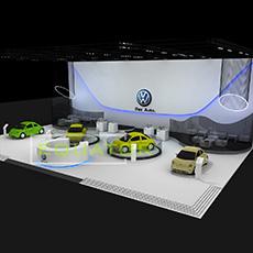 大众汽车进口甲壳虫汽车展台设计方案