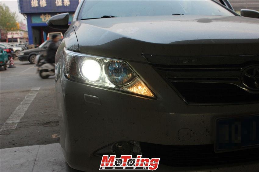丰田12款凯美瑞车灯改装案例