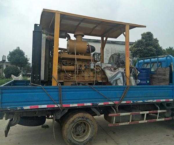 发电机组送往马鞍山客户工地