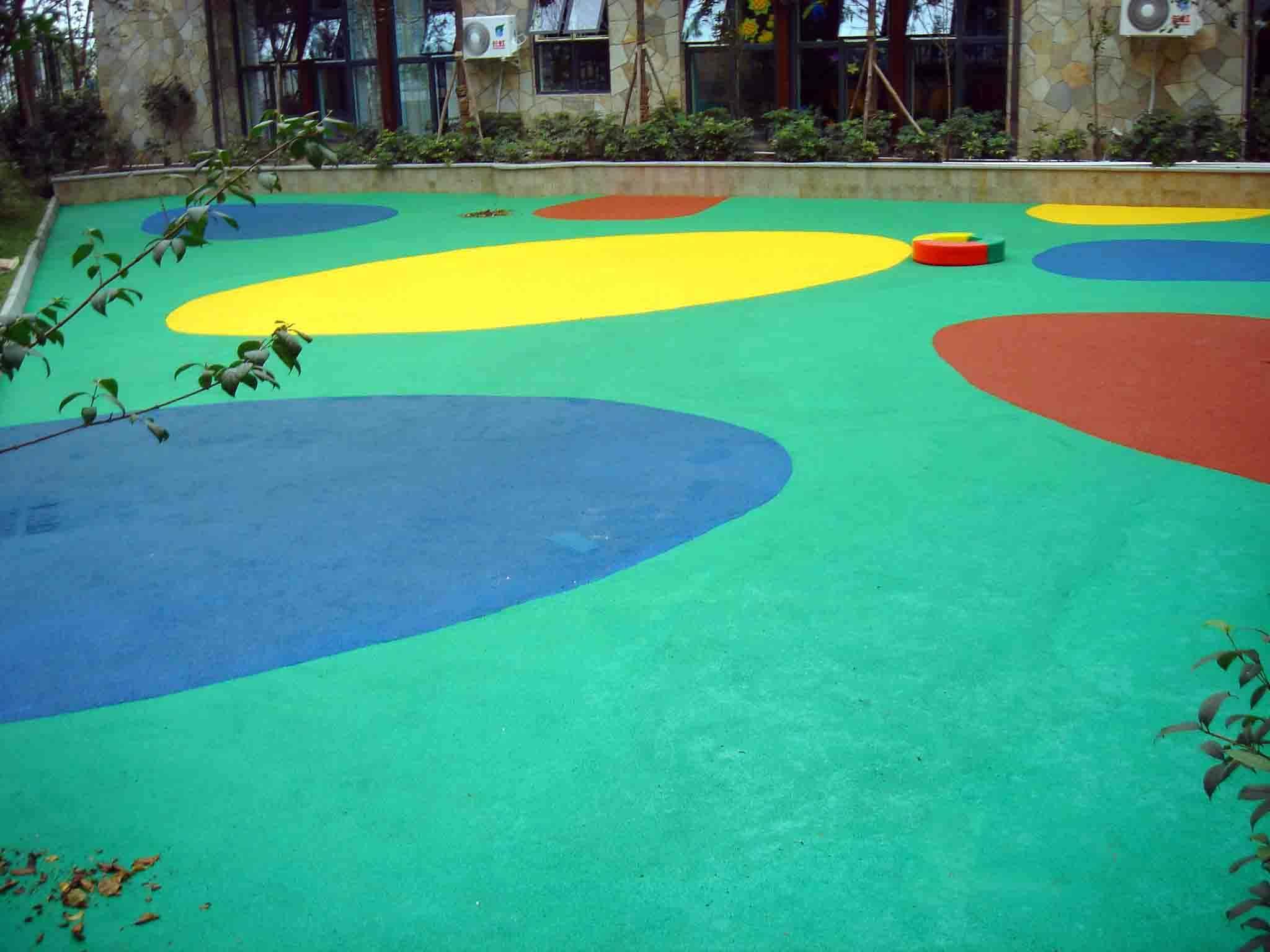东莞小区儿童区安全地垫 小区安全地点铺装 幼儿园安全地垫