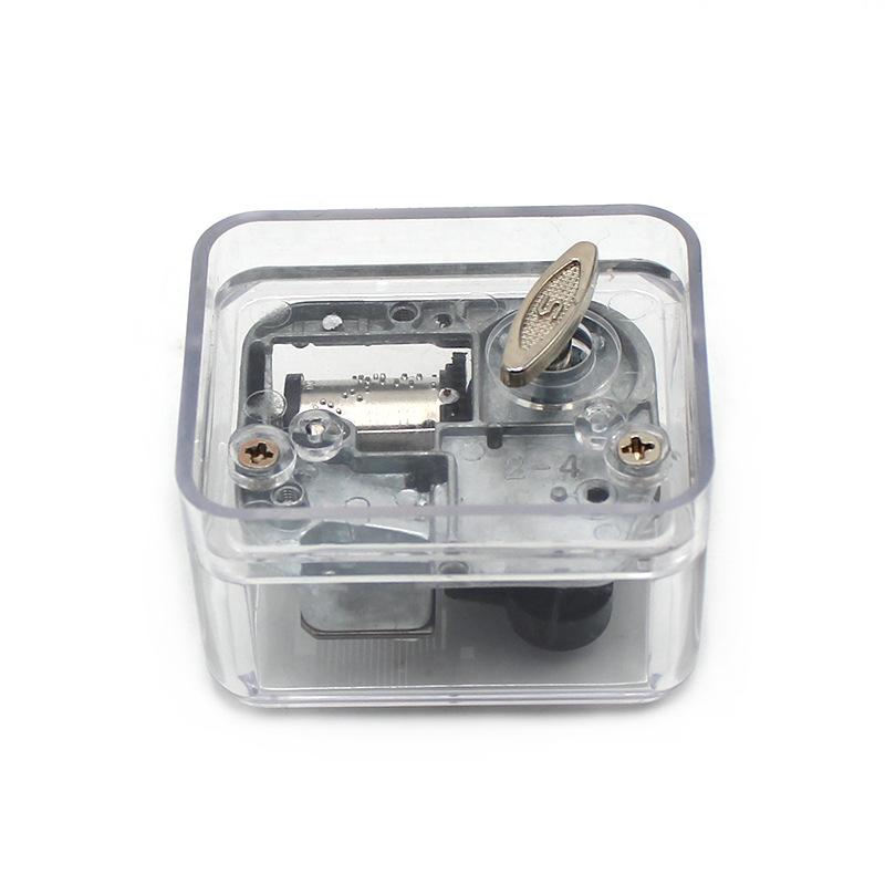 方形/透明发条盒音乐机芯