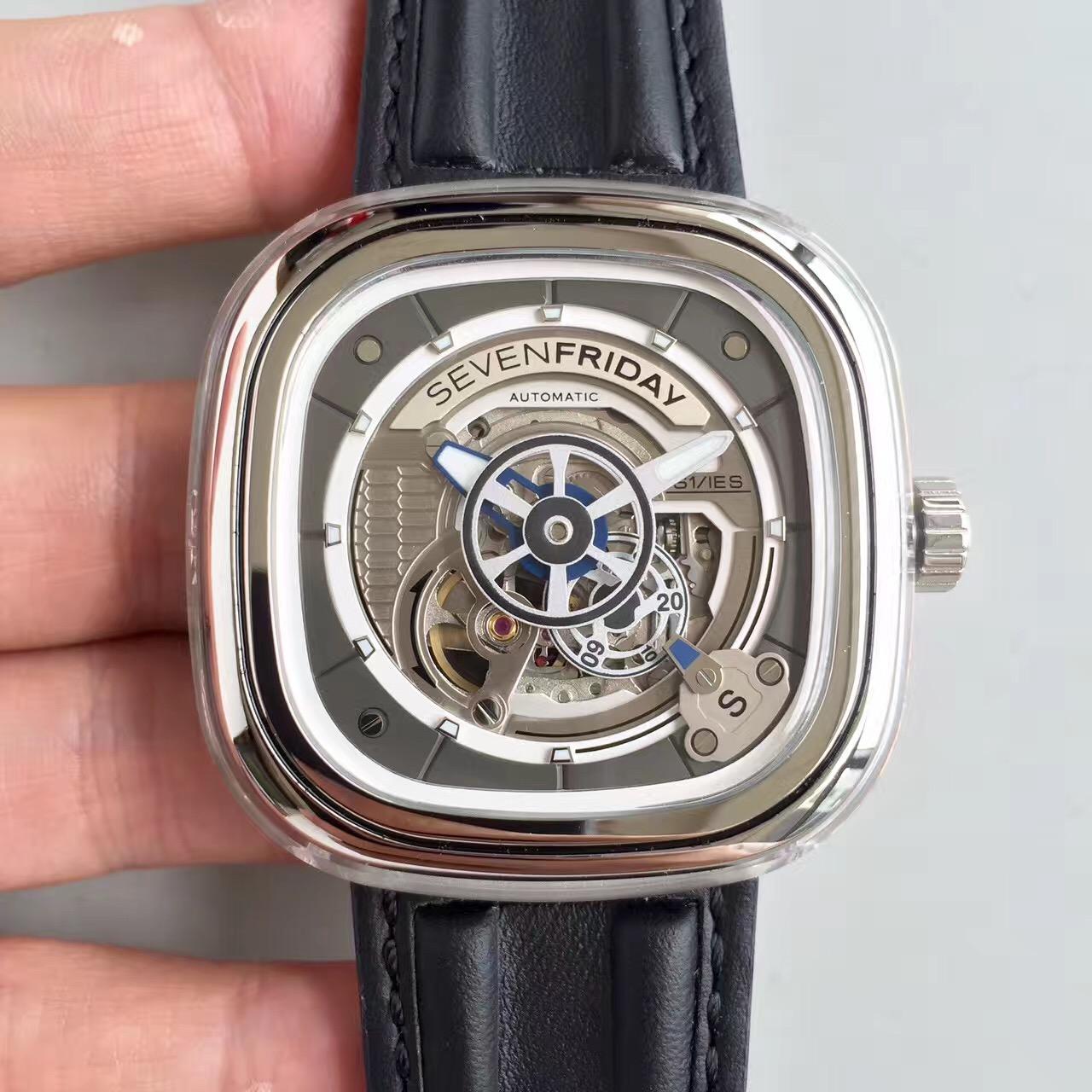 【JL厂】sevenfriday七个星期五S1系列全透明自动机械腕表