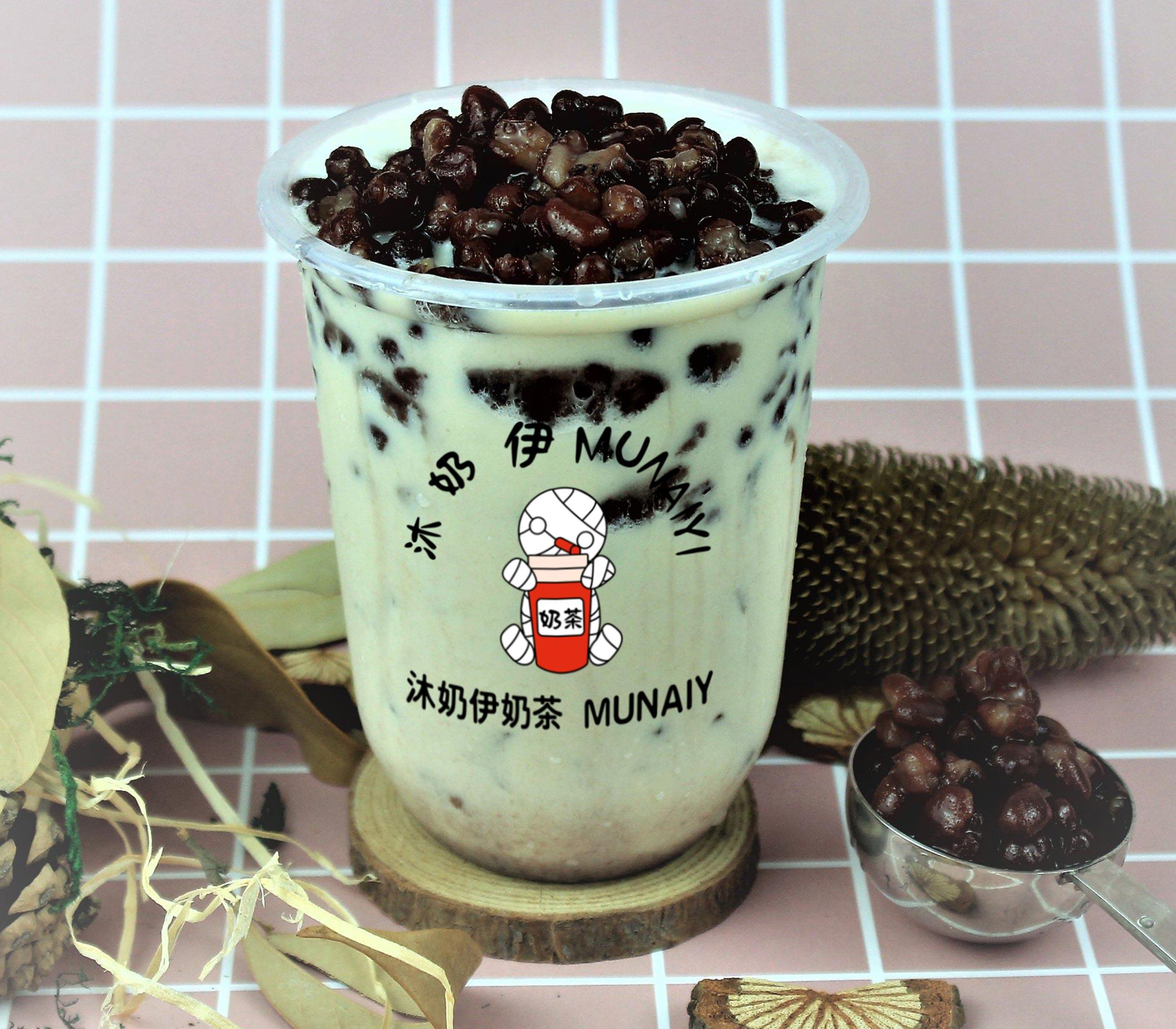 血糯米红豆奶茶