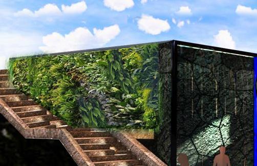 三亚海棠湾二期植物墙