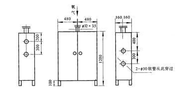 氧气点阀箱结构